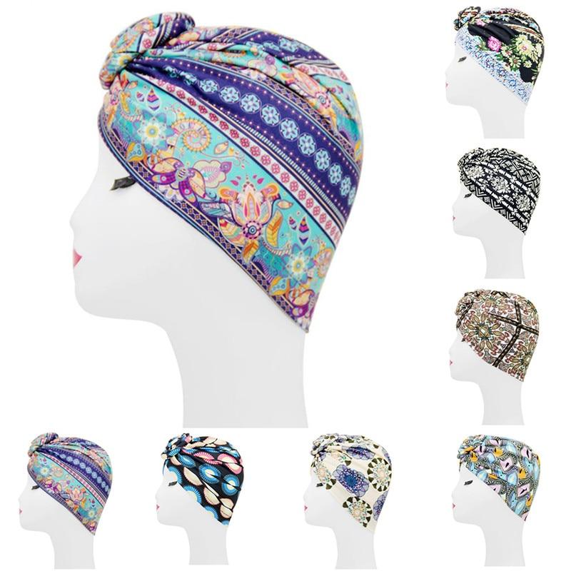 Women Islamic Muslim Headscarf Wrap Head Fashion Print National Style Dustproof Street Fashion Ladies Headscarf