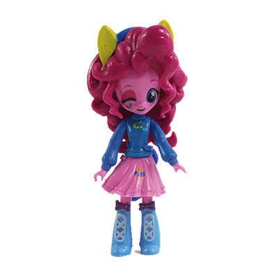 Unicorn Arcobaleno Sunset Shimmer Pinkie Pie Rarità Versione Cinematografica Del Fumetto Figura Giocattolo del PVC 8-10CM di Altezza