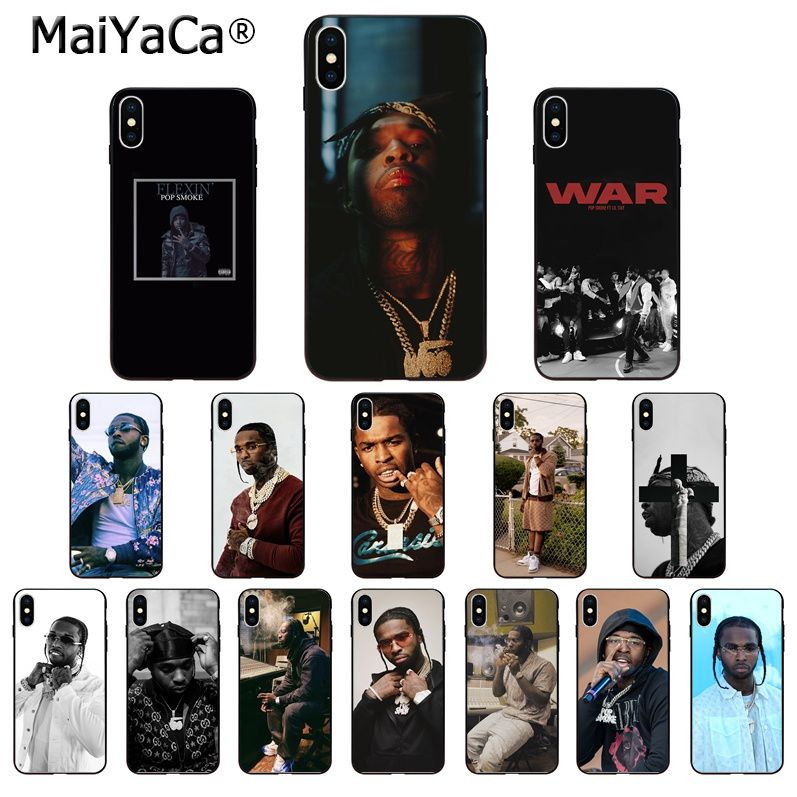 MaiYaCa Rapper Pop Smoke TPU Soft Silicone Phone Case Cover For IPhone 8 7 6 6S Plus 5 5S SE XR X XS MAX Coque Shell