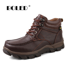 Handmade Men Boots With Fur Warm Snow Boots Plus Size Men Winter Boots Casual Shoes Men Footwear Fashion Ankle Winter Shoes bimuduiyu new arrival fashion handmade super warm autumnwinter men shoes casual british style ankle boots wipe color snow boots