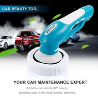 Multi Purpose Home Electric Powerful Handheld Car Beauty Tool with Rechargeable Battery Wax / Polishing/ Cleaning Brush
