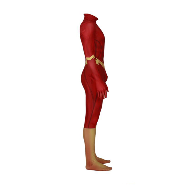 Flash homme Anime halloween costume nouvel an vêtements costume enfants corps mujer body moulante combinaison combinaisons deux pièces ensemble. - 2
