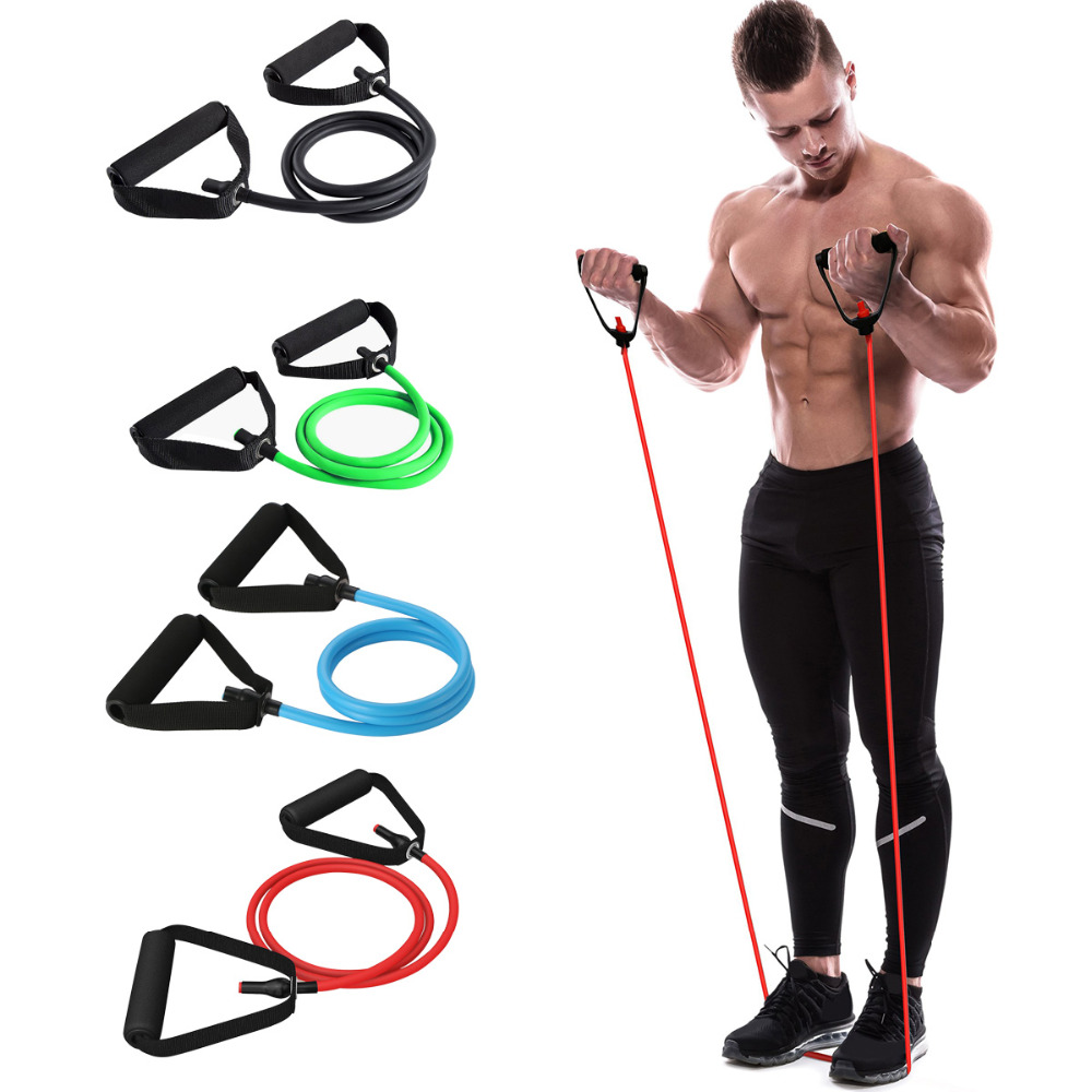 120cm Yoga Pull Rope Elastic Resistance Bands Rope Rubber Bands Fitness Equipment Exercise Tube Workout Strength Training