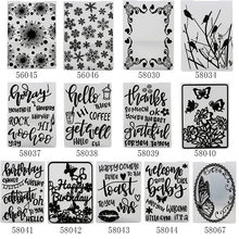 1PC Template Plastic Embossing Folders Clear Stamps DIY Photo Album Scrapbooking Craft Card Making Scrapbook Decoration Stencils(China)