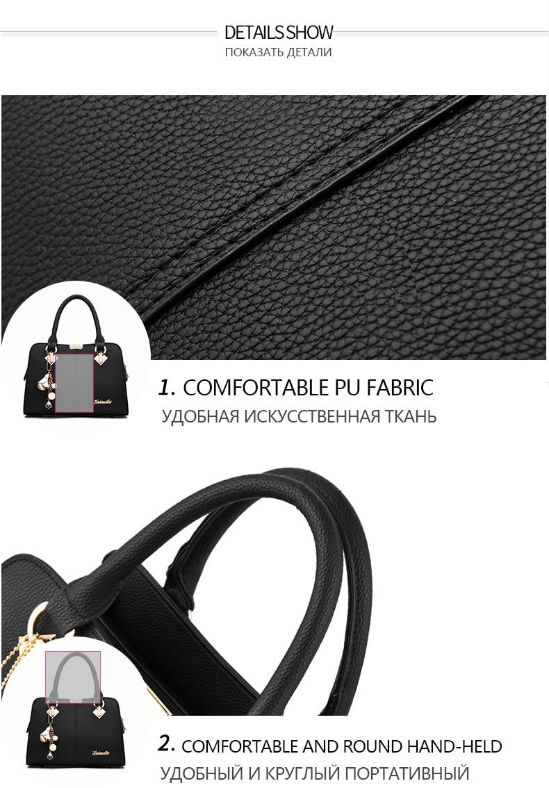 Designer Brand Bags Ladies Leather Tote Bag 2020 Luxury Ladies Handbag Wallet Fashion Shoulder Bag 14