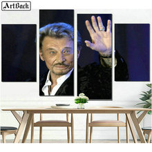 JOHNNY HALLYDAY Diamond Painting Portrait Full Square French Singer Wall Decoration Mosaic Crafts Sticker