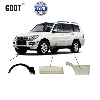 5 Doors LHD Wheel Eyebrow for Montero V95 V93 V98 Grey Painting Free Clips Front Cover Pajero V97 decoration board