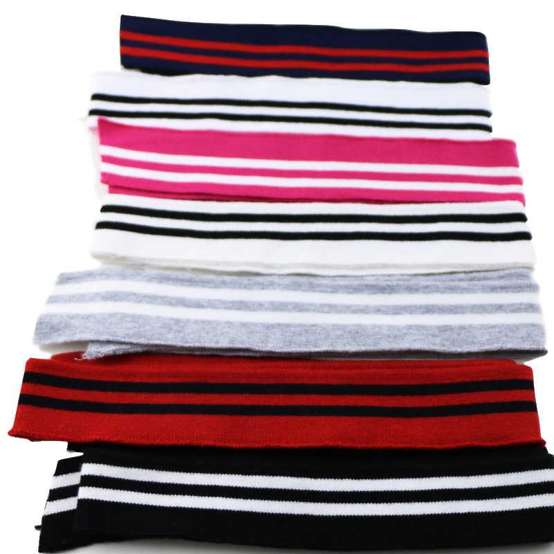 80 センチメートル長綿リブ生地ニットカラフルな Diy の布アクセサリー襟袖口裾底襟