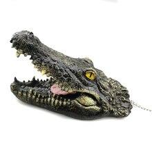3 шт./компл. плавающие искусственные смолы высокое качество крокодилов для пруд для садовых прудов украшения DC120