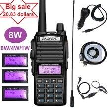 8W BAOFENG UV 82 Walkie telsiz amatör VHF UHF taşınabilir Ham CB radyo alıcı verici UV 82 artı avcılık 10KM