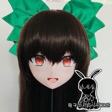 (Kaninchen 112) Harz Kreuz-Kleid Lolita Mädchen Kopf BIETEN Puppe Maske Japanischen Anime Produktion. I.G Yuzuriha Inori Kigurumi Maske Cosplay