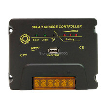 MPPT 20A 10A Solar Charge Regulators 12V/24V Auto Battery Panel Charger Controller With USB 5V Output Max PV Input Voltage 50V(China)