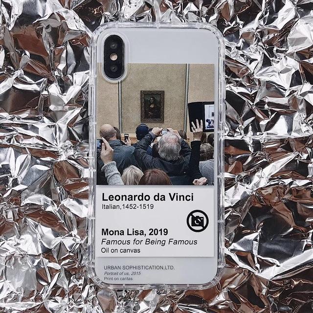 Classic Retro Mona Lisa Paint iPhone Case