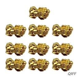 10Pcs Goldene Reichtum Porsperity Pi Xiu Perlen Pi Yao Charme Armband Schmuck Machen