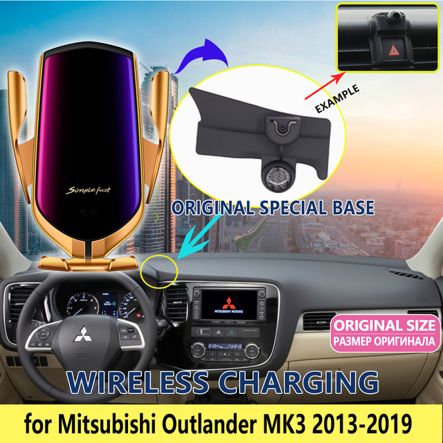 Car Mobile Phone Holder for Mitsubishi Outlander MK3 2013~2019 Telephone Stand Bracket Air Vent Accessories for iphone 2015 2016
