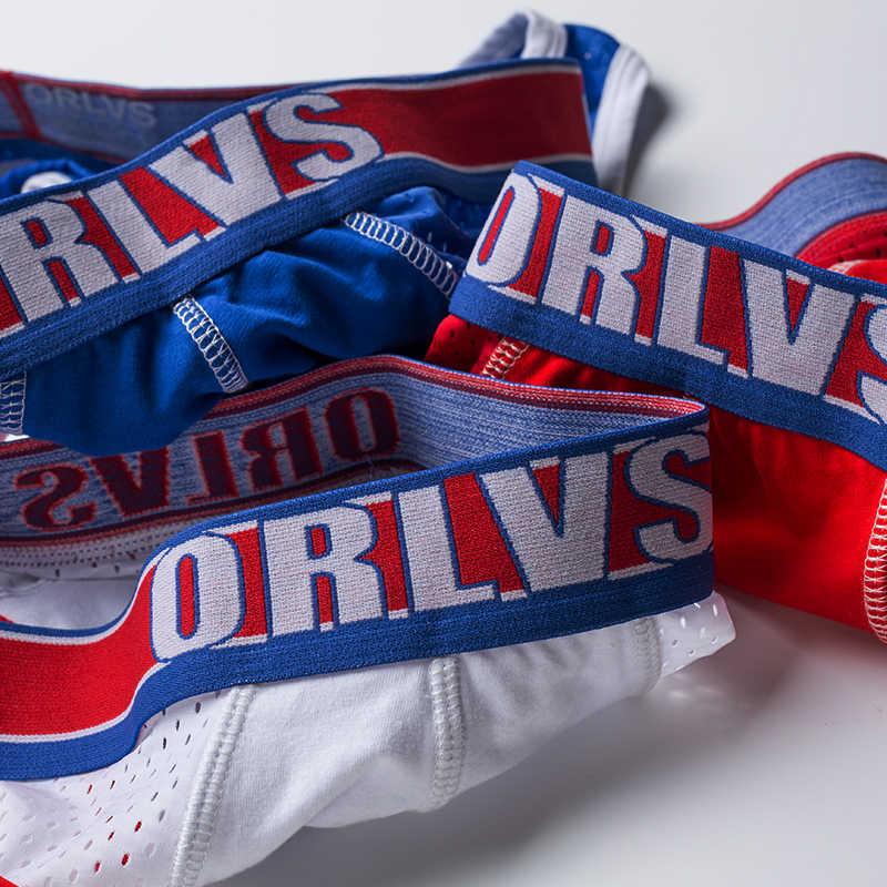 ORLVS marca sexy gay cueca tanga sissy pantis jockstrap hombres ropa interior gay tanga Hombres g string abierto espalda Lencería hombre gay jock