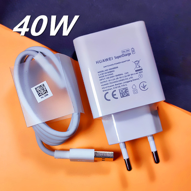 Original HUAWEI Fast Charger 40W 22.5W Supercharge Type C Cable For HUAWEI P30 P40 P10 P20 Pro lite Mate 9 10 Pro Mate 20 V20 3