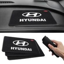 Alfombrilla antideslizante para salpicadero de coche, accesorio Interior para Hyundai Tucson Solaris I30 Creta Ix35 I40 IX20, 1 Uds.