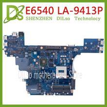 KEFU VALA0 LA-9413P FOR Dell Latitude E6540 Laptop Motherboa