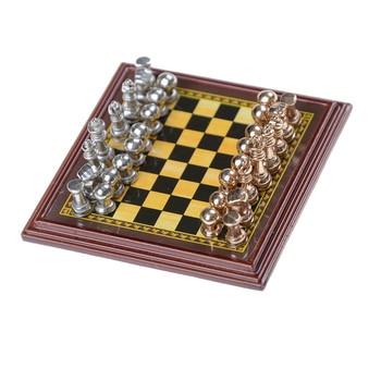 Jeu d'échecs en bois échiquier avec pièces en metal 1