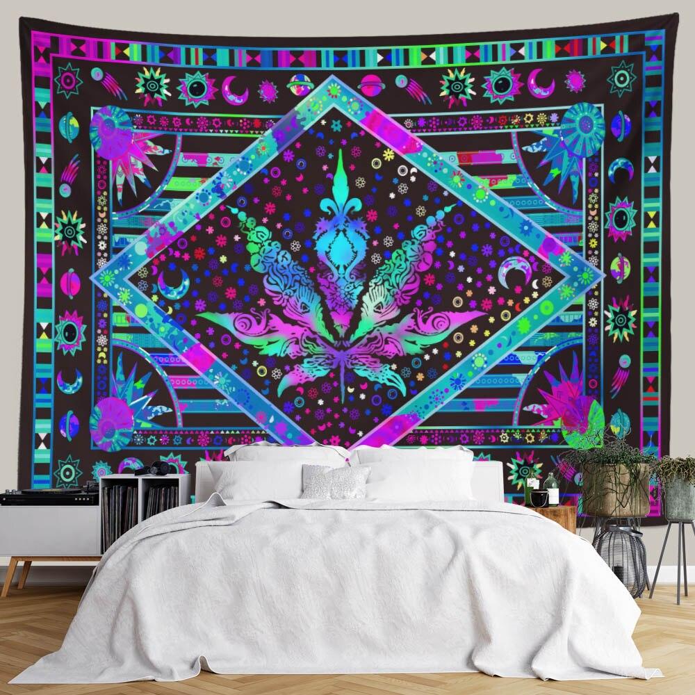 Настенный Гобелен SepYue с 3D принтом кленовых листьев, украшение для спальни, домашний декор, настенный гобелен, художественные богемные шторы, гобелен