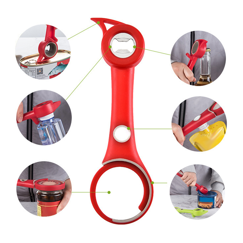 Kitchen Can Opener Safety Hand-actuated Plastic Professional Can Opener Side Cut Easy Grip Manual Opener Knife For Cans Jar Lid