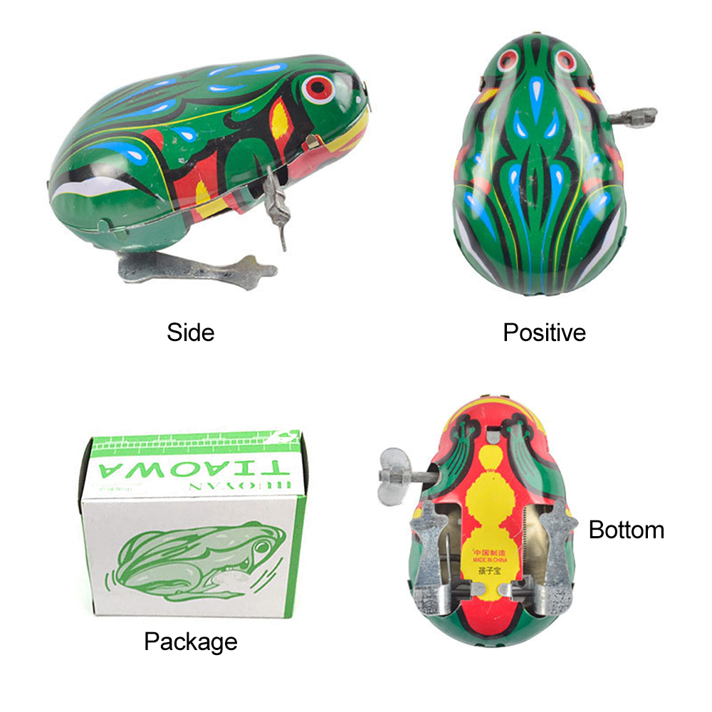 Toys Figurines Frog Animals Clock Miniatures Iron Home-Decoration-Accessories Small
