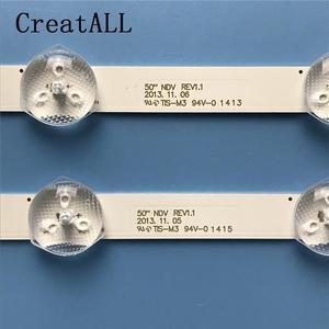 Image 2 - 7Pcs LED Backlight Strip 9 หลอดไฟสำหรับPanasonic 50 วัลย์จันทะฟองREV1.1 ทีวีB HITACHI 50HYT62U TX 50A300B VES500UNDA VES500UNDC 2D N01