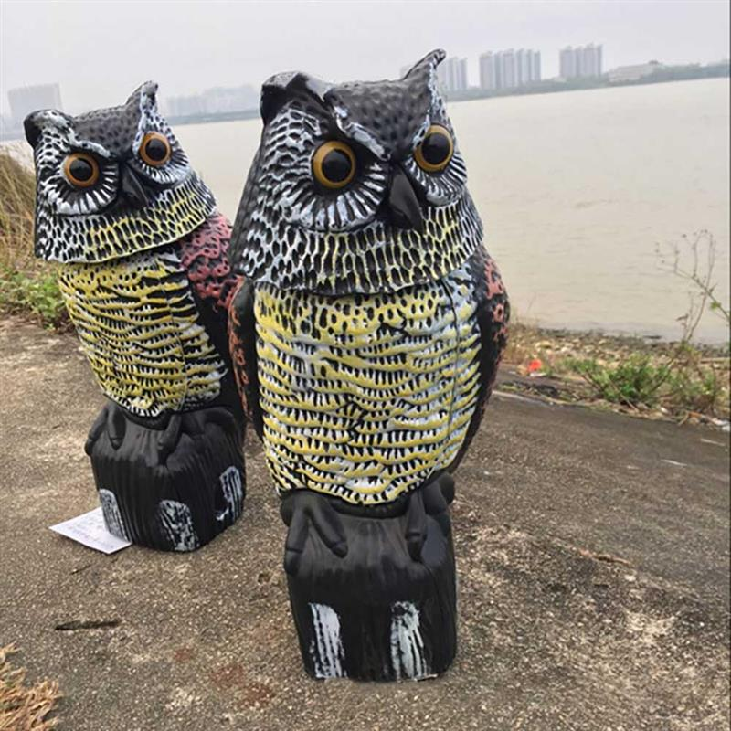 Image 5 - Owl Bird Repellent Hanging Reflective Owl Scarecrow Scares Bird Pigeons Repellent Birds Pest Control Scarecrow Garden Yard MoveRepellents   -