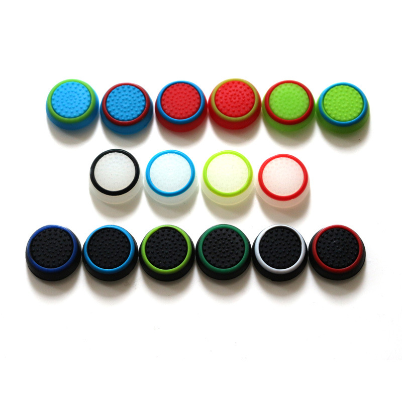 2PCS Silicone Analog Thumb Stick Grips Cover For Playstation 4 PS4 Pro Slim For PS3 Controller Thumbstick Caps For Xbox 360 One