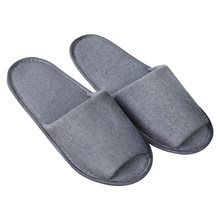 Men Women Spa Foldable With Storage Bag Solid Hotel Guest Travel Breathable House Portable Indoor Slippers Non Disposable Soft(China)