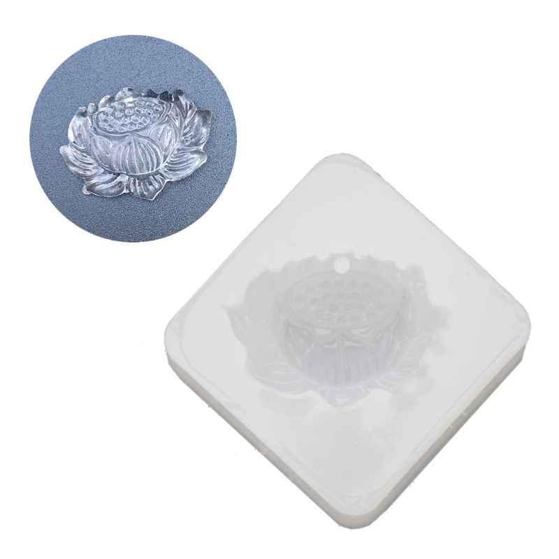 Лотос нефритовый кулон Силиконовые из эпоксидной смолы формы для творчества из пластика литые ювелирные изделия инструменты Y4QB