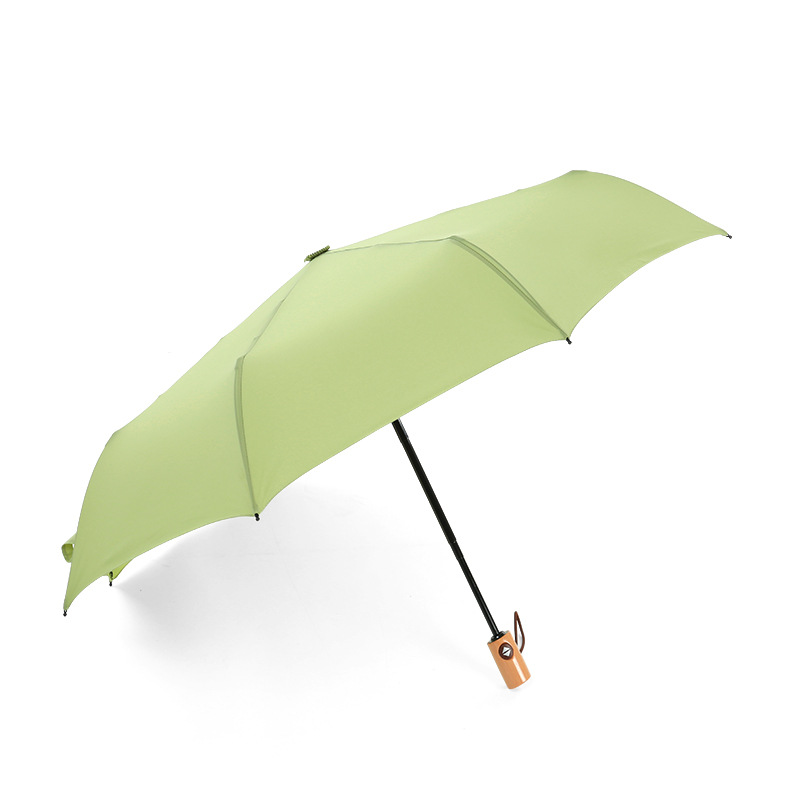 Japan Of Macarons Solid Color Creative Hipster Fully Automatic All-Weather Umbrella Folding Umbrella Can Be Printed Logo