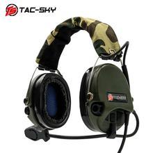 TAC SKY Sordin ซิลิโคน Earmuffs ลดเสียงรบกวนรถกระบะการล่าสัตว์หูฟังกีฬาทหารยุทธวิธีหูฟัง FG