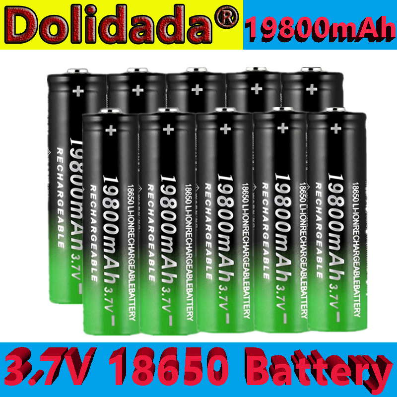Новый 18650 литий-ионная аккумуляторная батарея 19800 мАч перезаряжаемый аккумулятор 3,7 V для светодиодный фонарик или электронных устройств ...