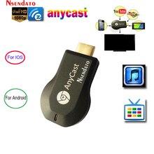 Anycast Adaptador de TV Stick inalámbrico m2 iii Plus, Miracast, HD, wi fi, receptor Cast, dongle para ios, android y Tablet