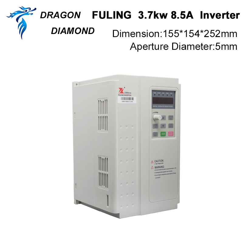 VFD Inversor 3.7KW Convertidor de frecuencia 3P 380V Salida CNC Husillo Motor Control de velocidad VFD Convertidor para CNC Husillo Motor