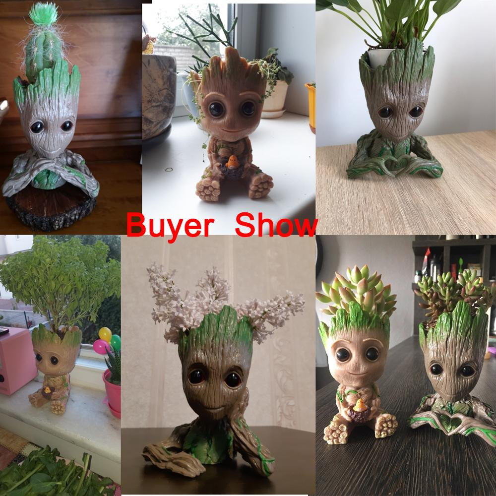 Cute Baby Groot Flower Pot with Small Hole to Drain the Inside Water Suitable for Home Decor 4