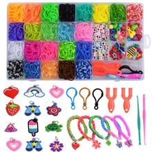32Grids Rainbow Rubber Bands Set Kid Multi-functional Classic Practical Funny DIY Toys Bracelet DIY Kit For Girl Children Gift