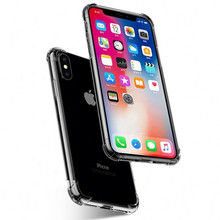 Suitable For iPhone 6 7 8 Plus X XS Max Cover Transparent Ultra-Thin Four-Corner Raised Phone Case Xr 5 SE Shockproof