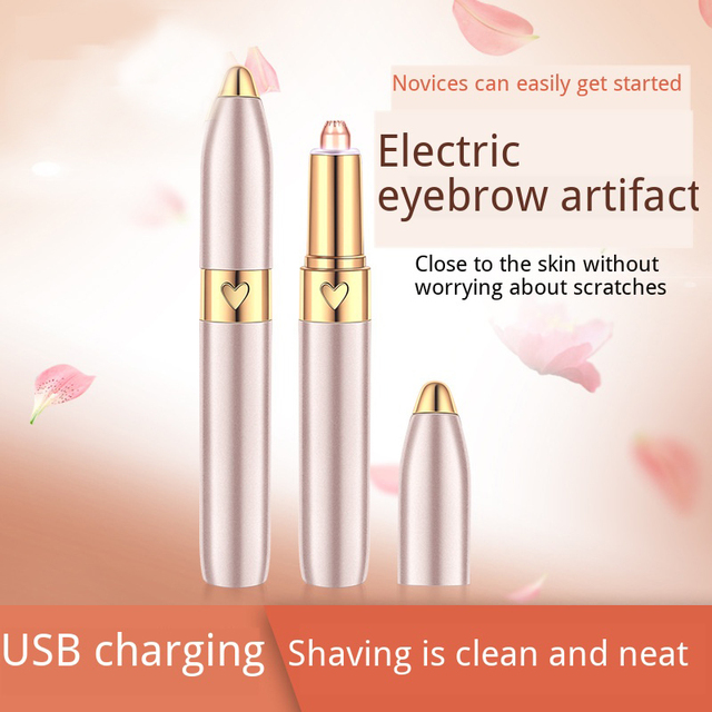 USB Rechargeable Eyebrow Trimmer Epilator Portable Eyebrow Shaping Knife Female Razor Trimmer Facial Repair Electric Beauty Pen 2