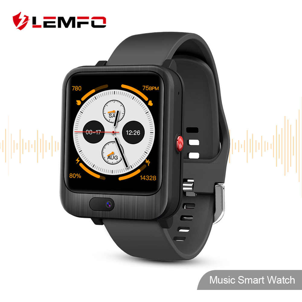 LEMFO LEM11 4G montre intelligente Android 7.1 3GB 32GB appel vidéo avec 1200mah batterie externe sans fil Bluetooth haut-parleur sangle remplaçable