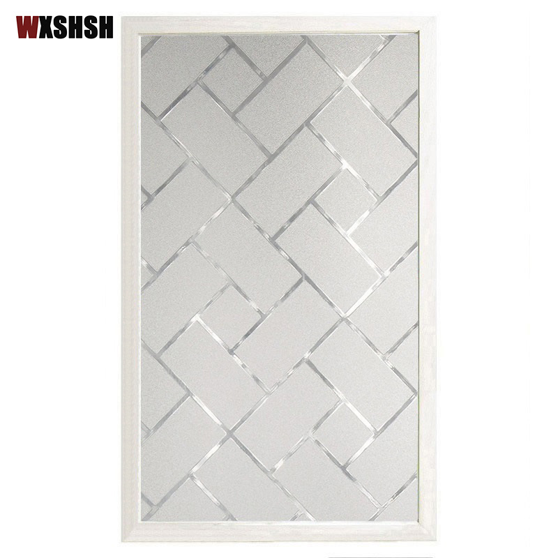 Geometry Glass Film Static Cling PVC Private Heat Control Frosted Removable Durable Drop-Shipping Explosion-Proof Window Sticker