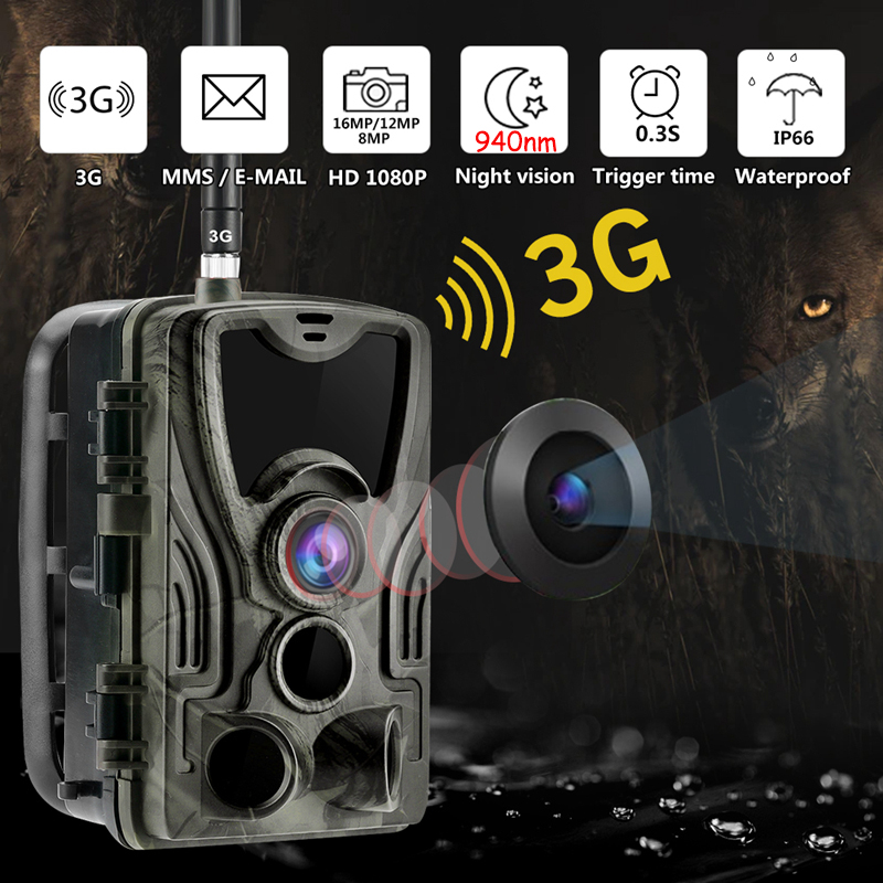 3G Hunting Trail Camera Wildlife Camera With Night Vision Motion Activated Outdoor 16MP Trail Camera Trigger Wildlife Scouting image