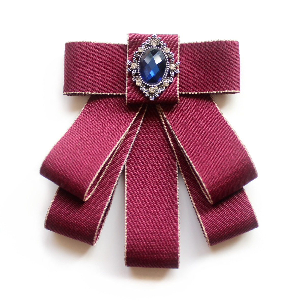 College Style Women Bowtie Collar Flower Formal Dress Brooch Crystal Necktie Temperament Bow Tie Groom Wedding Suit Mens Ties