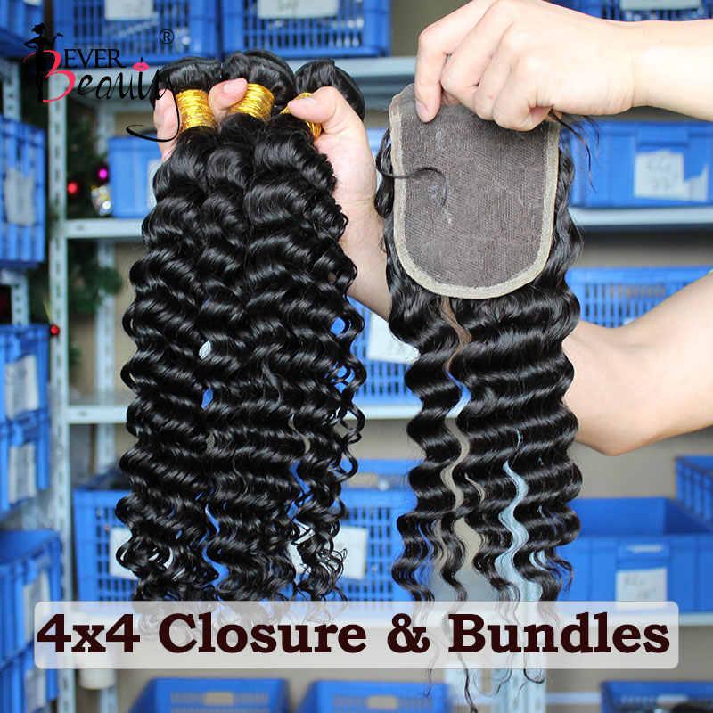 Paquetes de armadura de pelo virgen brasileño de onda profunda 100% extensión de paquete de cabello humano suelta 3 piezas de productos rizados de belleza sin procesar