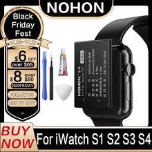 NOHON A1579 A1578 Para Apple Bateria de Relógio Série 1 2 3 4 42mm S1 S2 S3 S4 A1761 Series1 38mm Bateria Real Capacidade 40mm 44mm