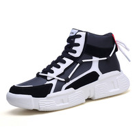 Men Casual Shoes Lace up Men Shoes Lightweight Comfortable Breathable Walking Sneakers Tenis Feminino Zapatos High Top Footwear