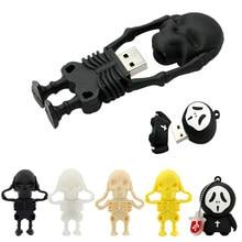 Schädel/dämon/geist/Grim Reaper-Stick 32GB 64GB 4GB 16 8 256 gb pendrive Mini Memory Stick USB2.0 Reale Kapazität cle usb geschenk