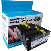 5pcs Printer Ink Cartridge For Compatible hp 711 XL Replacement For HP Designjet T120 T520 Printer ink